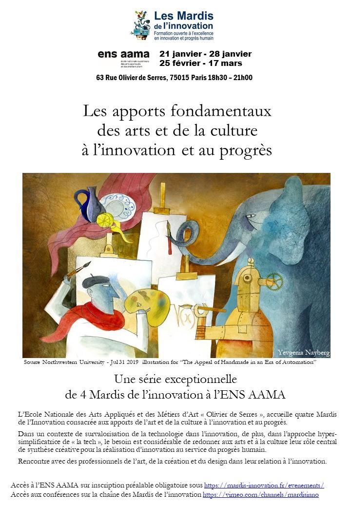 Mardis de l'innovation à l'ENS AAMA